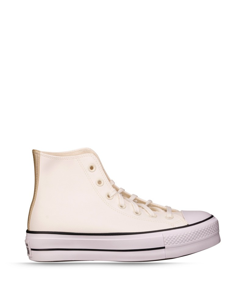 Converse 570452C CHUCK TAYLOR ALL STAR PLATFORM  LEATHER - HI Zapatillas Mujer Blanco
