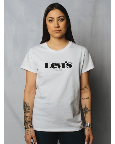 LEVIS STRAUSS & CO 17369-1249 THE PERFECT TEE Camisetas Mujer Blanco