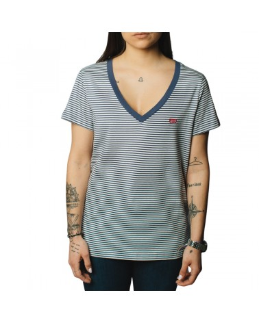 LEVIS STRAUSS & CO 85341-0021 PERFECT VNECK Camisetas Mujer Azul
