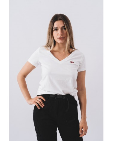 LEVIS STRAUSS & CO 85341-0002 PERFECT VNECK Camisetas Mujer Blanco