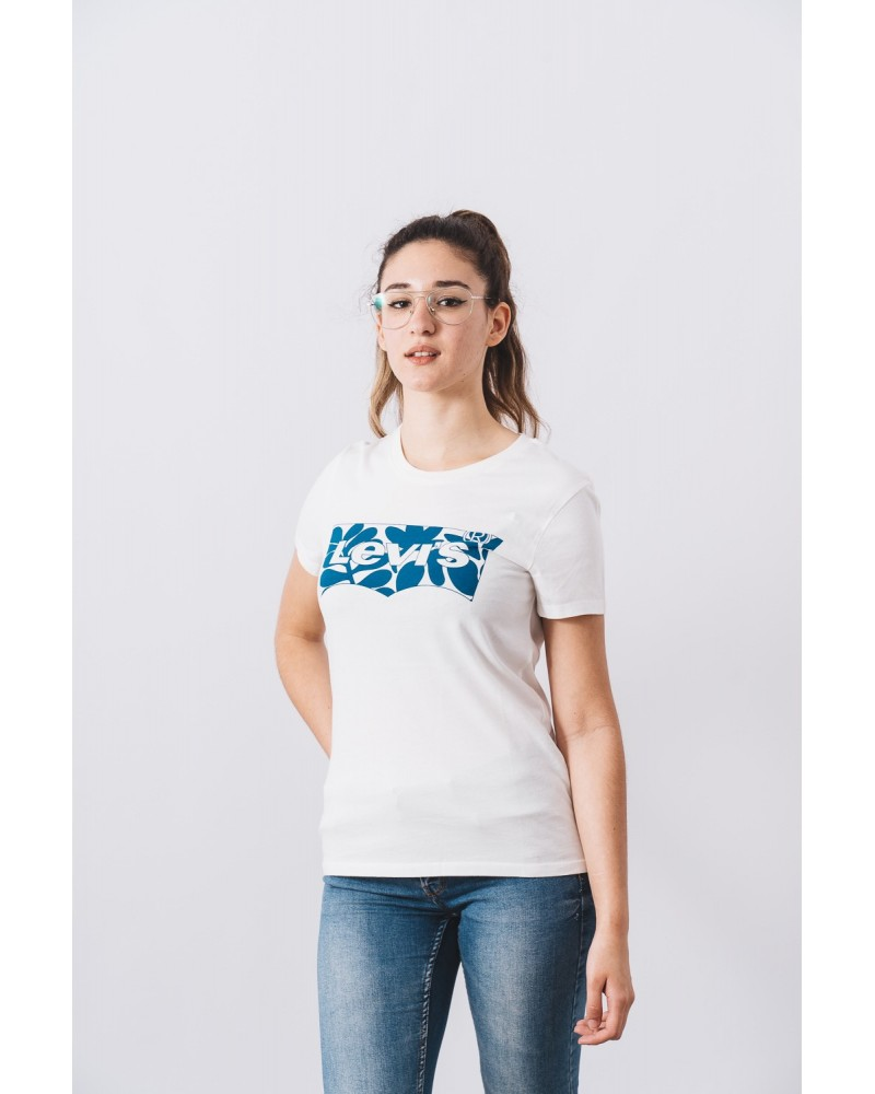 LEVIS STRAUSS & CO 17369-1257 THE PERFECT TEE Camisetas Mujer Blanco
