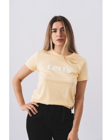 LEVIS STRAUSS & CO 17369-1260 THE PERFECT TEE Camisetas Mujer Amarrillo