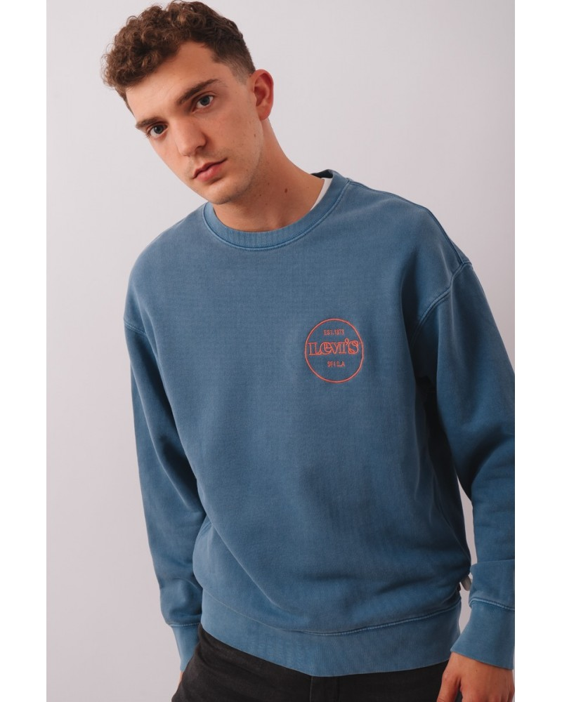 LEVIS STRAUSS & CO 38712-0022 RELAXED T2 GRAPHIC CREW Sudaderas Hombre Azul