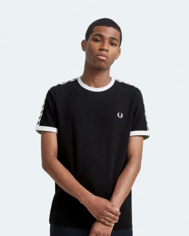 FRED PERRY WEAR 7418 Camisetas Hombre Negro